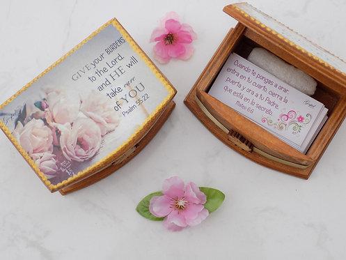 408 Bilingual scripture cards in box-Christian gift