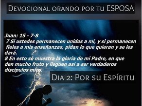 DEVOCIONAL ORANDO POR TU ESPOSA, DÍA 2: POR SU ESPIRITU