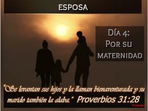 DEVOCIONAL ORANDO POR TU ESPOSA, DÍA 4: POR SU MATERNIDAD
