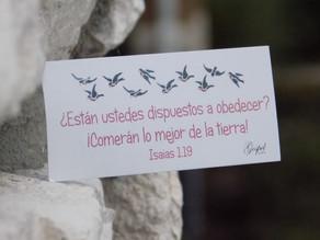 Día 27: ¿Están ustedes dispuestos a obedecer?¡Comerán lo mejor de la tierra! Isaías 1:19