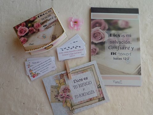504 Spanish Simple Encouragement Gift Box with Notepad, Inspirational