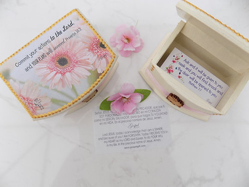407 Bilingual scripture cards in box-Christian gift