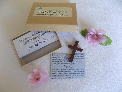 SET 60 Versiculos biblicos Kraft box