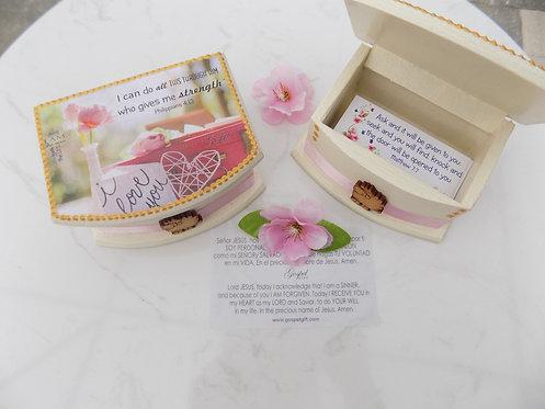 413 Bilingual scripture cards in box-Christian gift