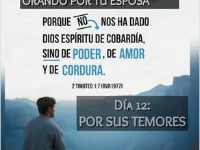 DEVOCIONAL PARA HOMBRES: ORANDO POR TU ESPOSA, Día 12: SUS TEMORES