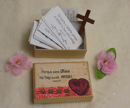 K528 SET 60 Versiculos biblicos Kraft box, Lucas 1:37