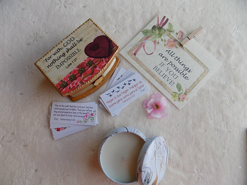 428 Simple Faith Gift SET with CANDLE / Thinking of You Gift/ Inspirat