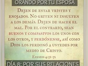 DEVOCIONAL PARA HOMBRES: ORANDO POR TU ESPOSA, Día 8: SUS RELACIONES