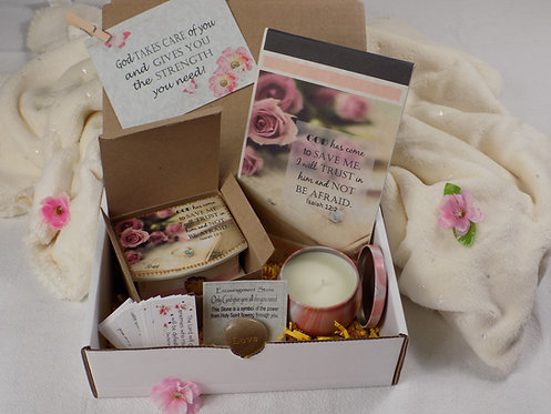 404 Encouragement Gift Box, Inspirational & Blessing Gift, Isaiah 12:2, English