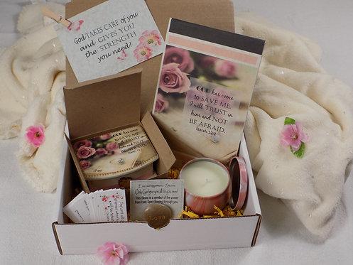404 Encouragement Gift Box, Inspirational & Blessing Gift, Isaiah 12:2, English