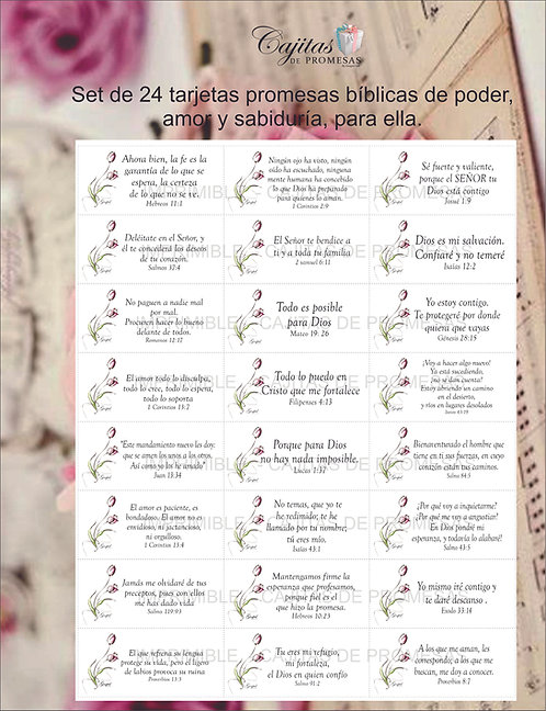 WOMAN COL#1, SET DE 24 TARJETAS VERSICULOS BIBLICOS DESCARGABLES EN ESPAÑOL