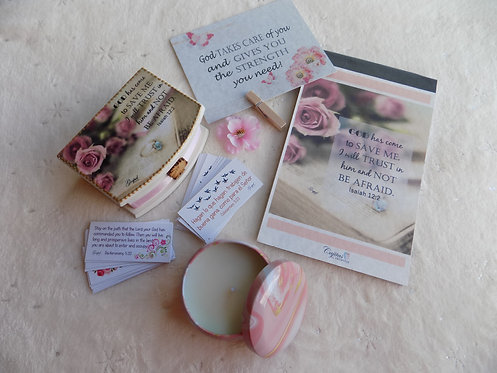 404 Simple Encouragement Gift Set with candle/ Thinking of You Gift