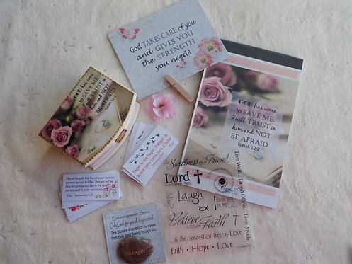404 Simple Encouragement Gift Set with stone and stickers / Thinking of You Gift