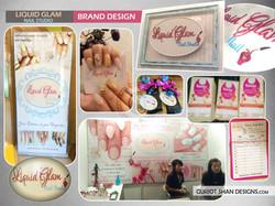 Liquid Glam-- GSD brand design