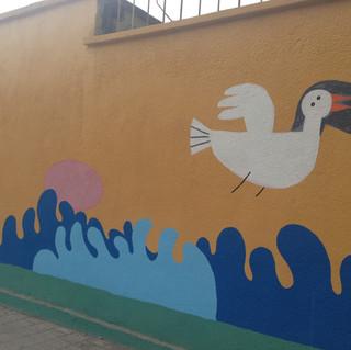 school wall painting