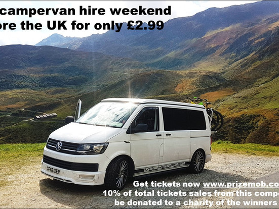 WIN weekend VW T6 campervan hire