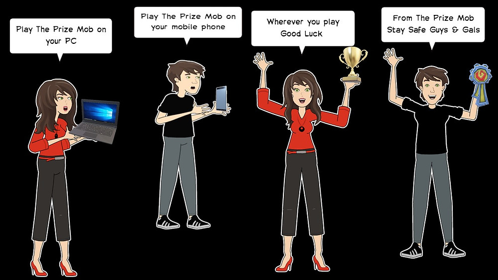Get Involved, Help Us, Help Others, Help You - prize mob fundraising competitions