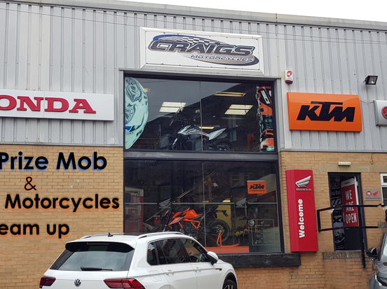 The Prize Mob & Craigs Motorcycles team up to help raise money for charities across the UK