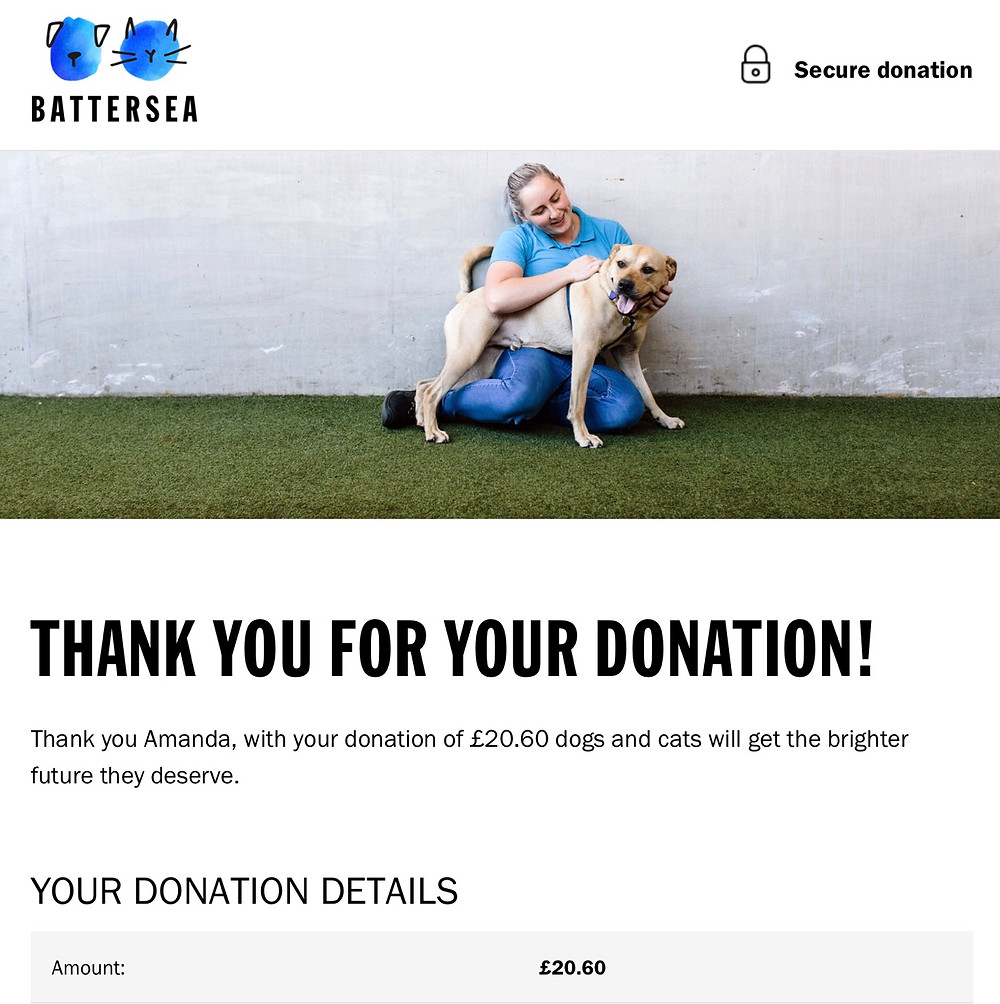 Prize Mob supports Battersea Dogs Home, London in our February fundraising competition