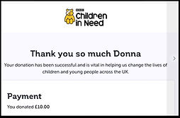 Prize Mob Children in need donation £10 Donna o shea
