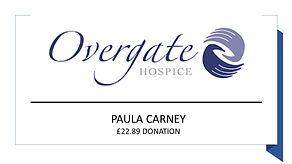 Prize Mob winner Paula Carney Overgate Hospice donation £22.89