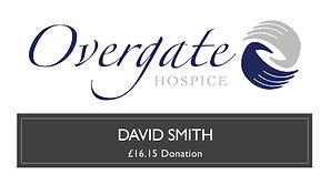 Prize Mob winner David Smith donation Overgate Hospice  £16.16