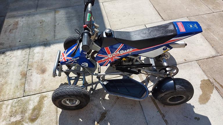 Rare limited edition Blata midi fast racing quadard 50cc - £4.99 TICKET