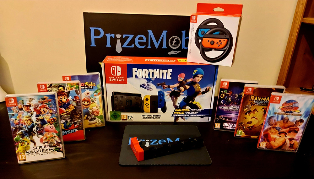 Prize Mob Fortnite Nintendo Switch fundraising competition