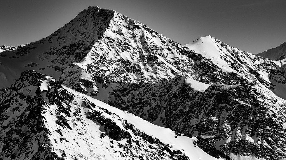 Mountain in monochrome