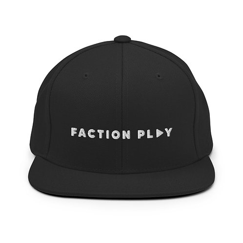 Faction Play Snapback Hat - Black
