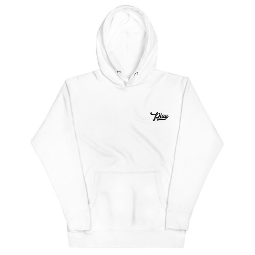 Play Essential Embroidered Hoodie - White