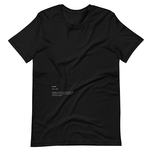 """Play"" Definition Tee - Black"