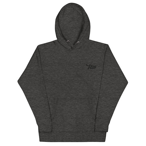 Play Essential Embroidered Hoodie - Charcoal