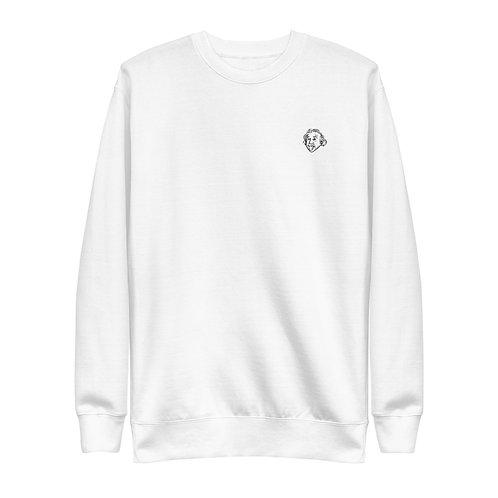 Einstein Play Unisex Sweatshirt - White