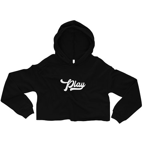 Play Collection Crop Hoodie - Black