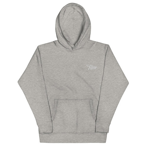 Play Essential Embroidered Hoodie - Gray