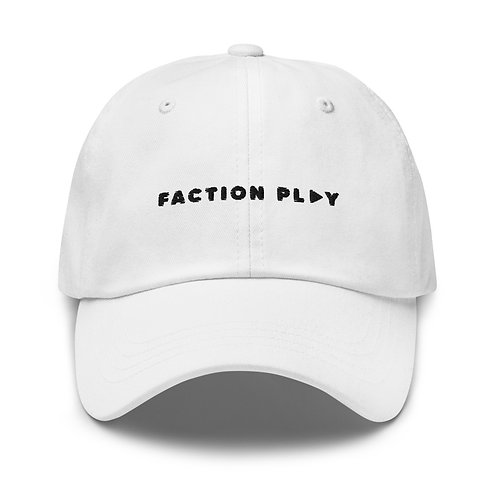 Faction Play Dad hat - White