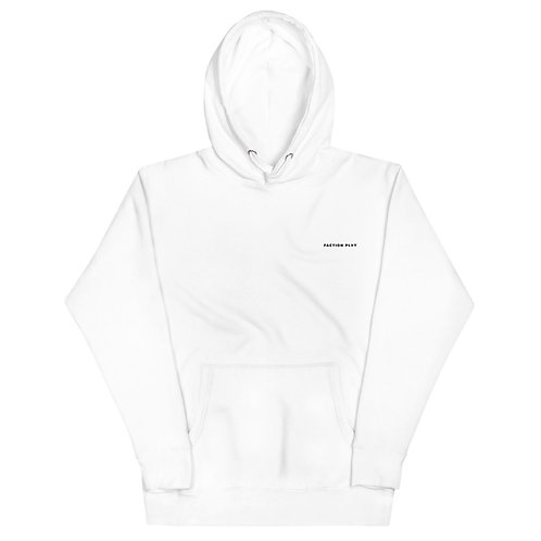 Faction Play Embroidered Hoodie - White