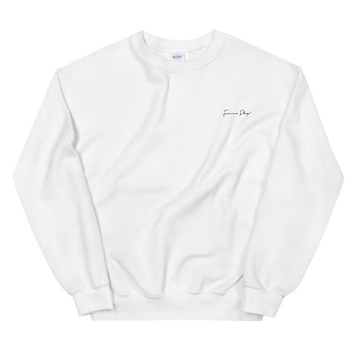 Embroidered Cursive Forever Play - White