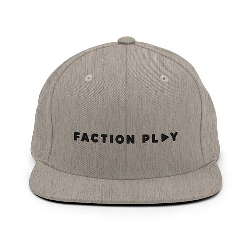 Faction Play Snapback Hat - Heather Gray