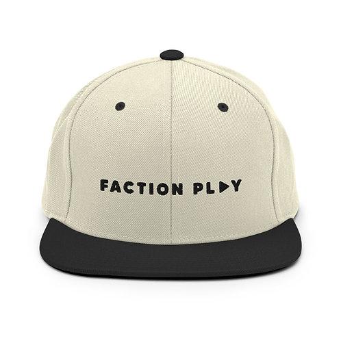 Faction Play Snapback Hat - Natural/Black