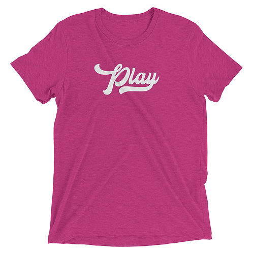 Play Collection Tee - Berry Fleck Tri Blend
