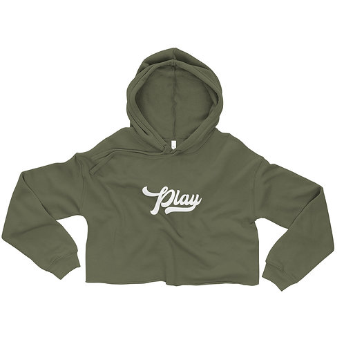 Play Collection Crop Hoodie - Military Green