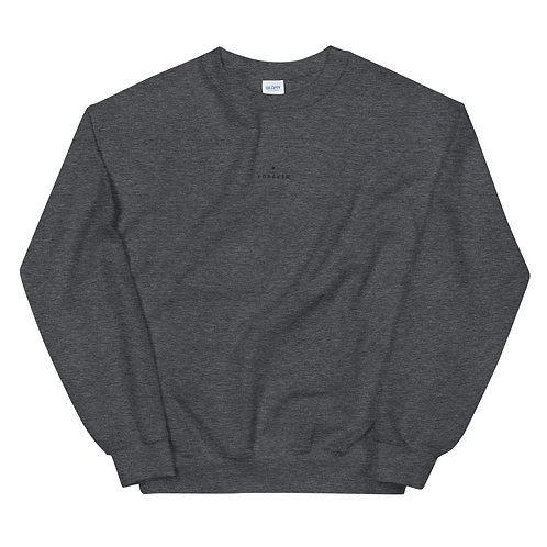 Embroidered Forever Play Sweatshirt - Dark Heather