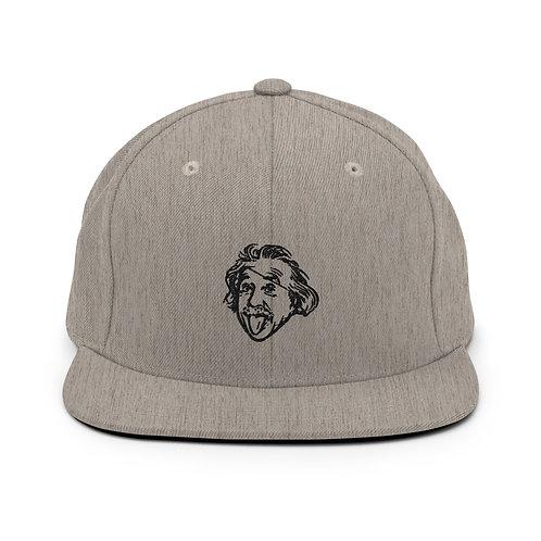 Einstein Head Snapback Hat - Heather Gray