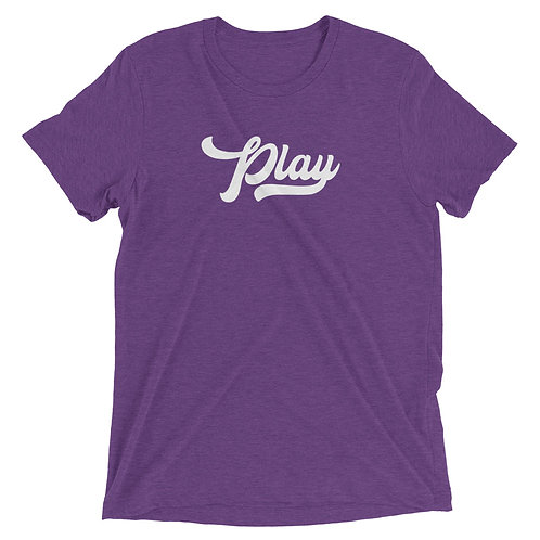Play Collection Tee - Purple Fleck Tri Blend