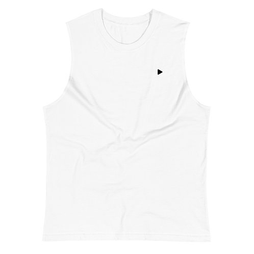 Play Symbol Muscle Shirt - White