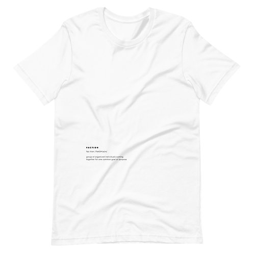 """""""Faction"""" Definition Tee - White"""