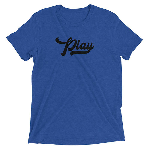 Play Collection Tee - Royal Fleck Tri Blend