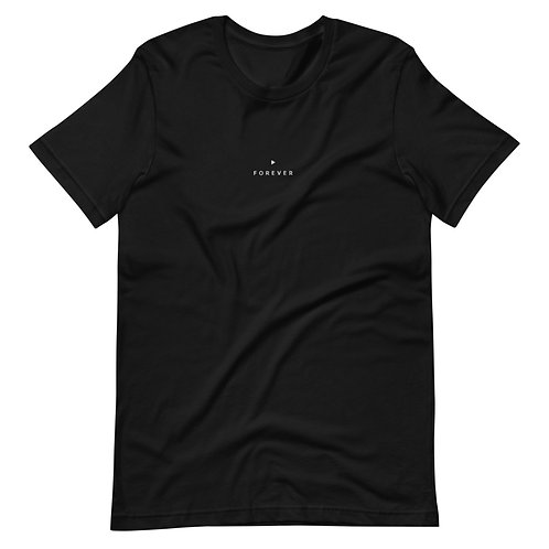 Embroidered Forever Play Tee - Black